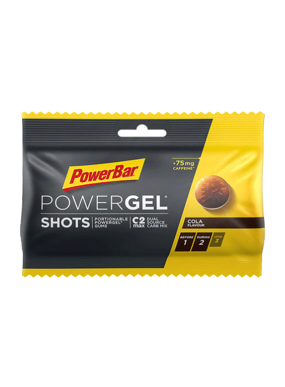 Powerbar shots/vingummi cola m. koffein