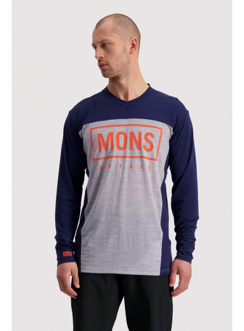 Mons Royale Redwood VLS Navy/ Grey Marl